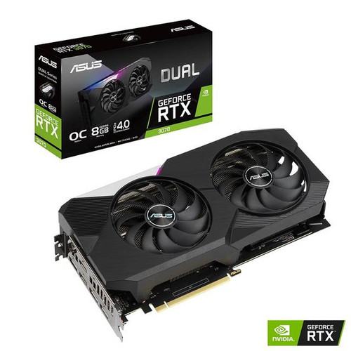 ASUS NVIDIA GeForce RTX 3070 OC DUAL-RTX3070-O8G Edition 8GB GDDR6 2HDMI/3DisplayPort PCI-Express 4.0 Video Card