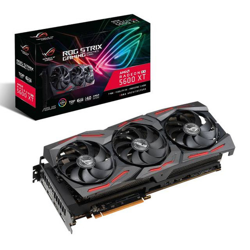 ASUS ROG Strix AMD Radeon RX 5600 XT ROG-STRIX-RX5600XT-T6G-GAMING TOP Edition 6GB GDDR6 HDMI/3DisplayPort PCI-Express 4.0 Gaming Video Card