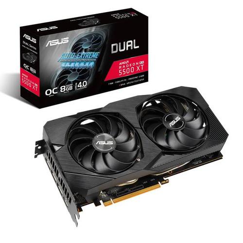 Asus Dual DUAL-RX5500XT-O8G-EVO Radeon RX 5500 XT 8 GB GDDR6 Graphic Card