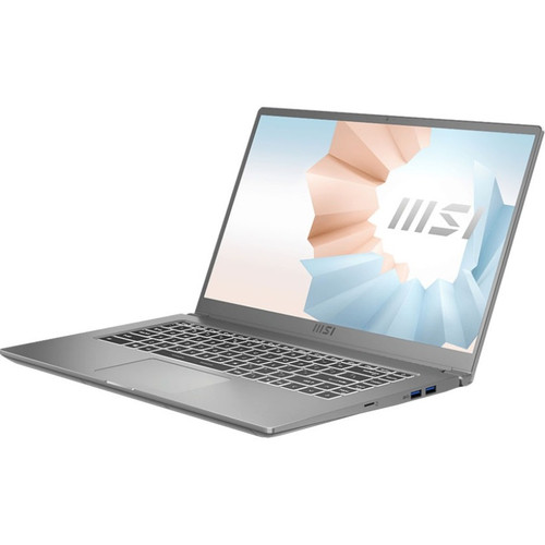 "MSI Modern 15 A11SB-059 15.6"" Rugged Laptop (1.20 GHz Intel Core i7-1165G7 (10th Gen), 32 GB DDR4 SDRAM, GTX MX450, 1 TB SSD, Windows 10 Pro)"
