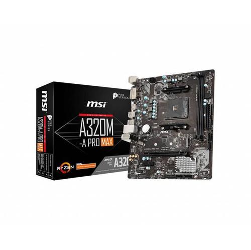 MSI A320M-A PRO MAX AMD Chipset Socket AM4 Desktop Motherboard