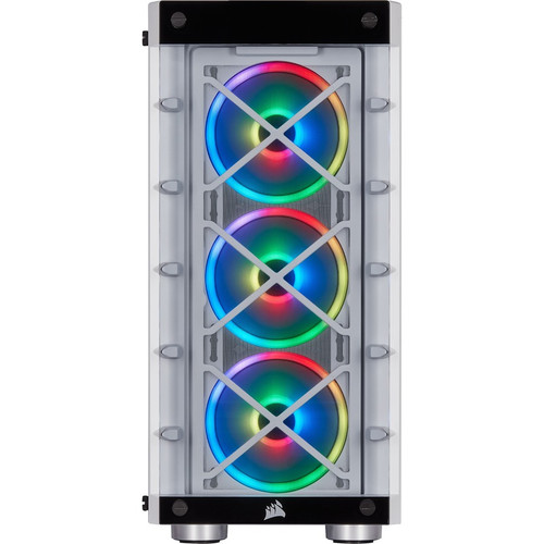 Corsair iCUE 465X CC-9011189-WW RGB Mid-Tower ATX White Smart Chassis