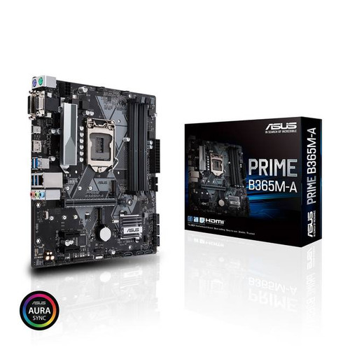 Asus Prime B365M-A Desktop Motherboard - Intel Chipset , ASUS OptiMem: Careful routing of traces and vias to preserve signal integrity for improved memory stability Fan Xpert 2+: Flexible controls for ultimate cooling and quietness.