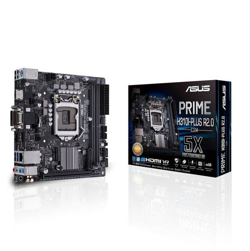 Asus Prime H310I-PLUS R2.0/CSM Desktop Motherboard - Intel Chipset - Socket H4 LGA-1151