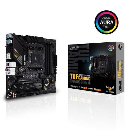 Asus TUF GAMING B450M-PRO S Desktop Motherboard - AMD Chipset - Socket AM4