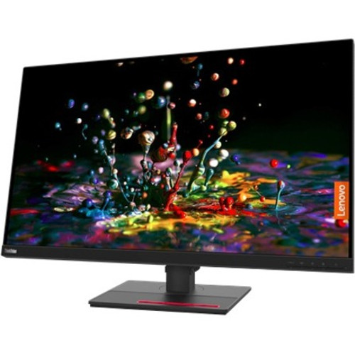 """Lenovo ThinkVision P32P-20 31.5"""" 4K 62A2GAR2US 16:9 Raven Black UHD WLED LCD Monitor, Moreover, this monitor's factory-calibrated color accuracy with average Delta E<2, 99% sRGB and multiple color spaces offer excellent color performance. The monitor offers full-functioned USB Type-C one cable solution with the capability to deliver up to 90W power delivery and an Ethernet signal."""