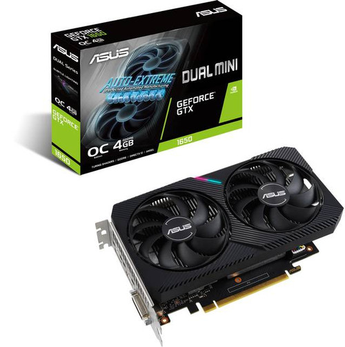 Asus NVIDIA GeForce GTX 1650 4 GB GDDR6 DUAL-GTX1650-O4GD6-MINI-CSM Graphic Card