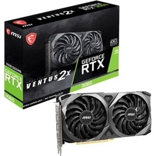 MSI NVIDIA GeForce RTX 3060 G3060V2X12C 12 GB GDDR6 Graphic Card