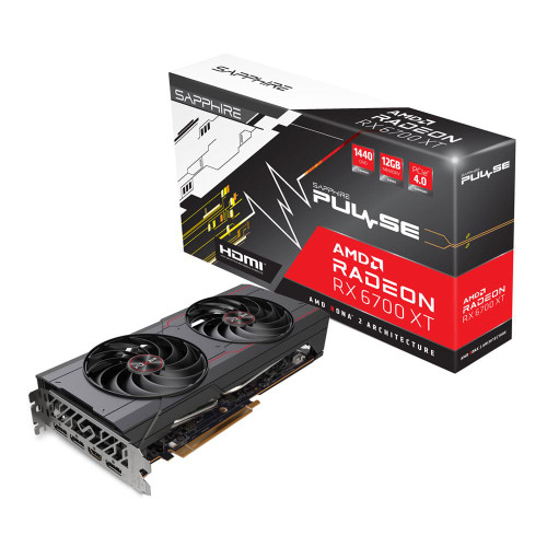 Sapphire Technology AMD Radeon RX 6700 XT Pulse Dual-Fan 12GB GDDR6 PCIe 4.0 Graphics Card