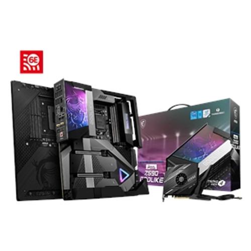 MSI MEG Z590 GODLIKE Desktop Motherboard - Intel Chipset - Socket LGA-1200 - Intel Optane Memory Ready - Extended ATX - Supports 11th and 10th Gen Intel® Core™ / Pentium® Celeron® processors for LGA 1200 socket