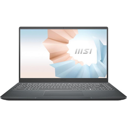 "MSI Modern 14208 14"" Ultrabook Laptop (3.00 GHz Intel Core i3-1115G4, 8 GB DDR4 SDRAM, Iris Xe, 512GB SSD, Windows 10 Home)"