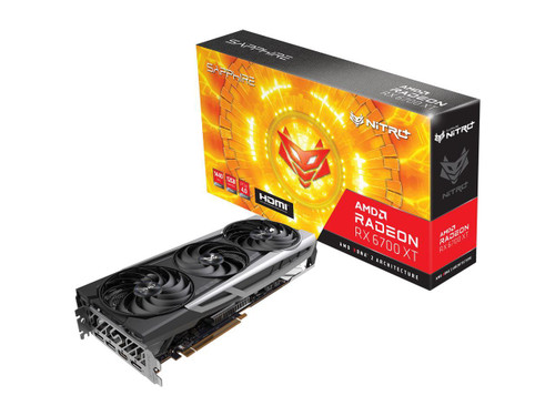 The SAPPHIRE NITRO+ AMD Radeon RX 6700 XT Graphics Card for the ultimate 1440p gamer seeking to harness breakthrough graphics with vivid visuals and excellent quality cooling solutions. Rigged with superior components to handle AAA game scenarios, the NITRO+ AMD Radeon RX 6700 XT Graphics card is a crucial component for an incredible gaming experience. The aesthetic design will be a beautiful integration into any PC build.