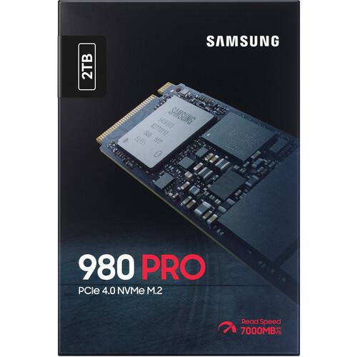 Samsung 980 PRO MZ-V8P2T0 2 TB Solid State Drive - M.2 2280 Internal - PCI Express NVMe (PCI Express NVMe 4.0 x4)