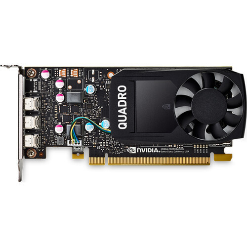Designed for small workstations and basic graphics or hardware acceleration applications, PNY Technology's Quadro P400 V2 Graphics Card is a low-profile graphics card built on NVIDIA's Pascal architecture. The GPU features 256 CUDA cores coupled to 2GB of VRAM with a 64-bit memory bus providing a maximum of 641 GFLOPS of single-precision computing power. Using supported APIs and CUDA, that computing performance can translate into high-resolution graphics rendering and improved computing speed with hardware acceleration.