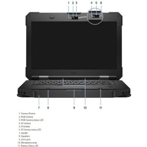 "Dell Latitude 5000 5420 14"" Rugged Laptop (1.70 GHz Intel Core ii5-8350U (8th Gen) Quad-core (4 Core), 16 GB DDR4 SDRAM, 512 GB SSD, Windows 10 Pro)"