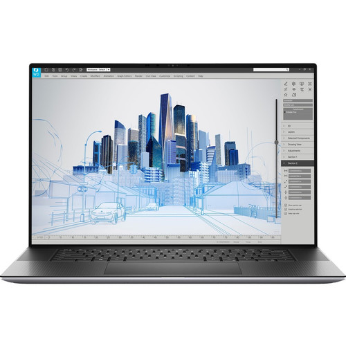"""Dell Precision 5000 5760 17"""" Mobile Workstation Laptop (2.50 GHz Intel Core i7-11850H 11th Gen Octa-core (8 Core), 32 GB DDR4 SDRAM, 512 GB SSD, Windows 10 Pro)"""