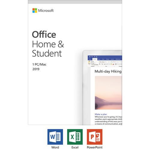 Microsoft Office 2019 Home & Student - Box Pack - 1 PC/Mac - Medialess