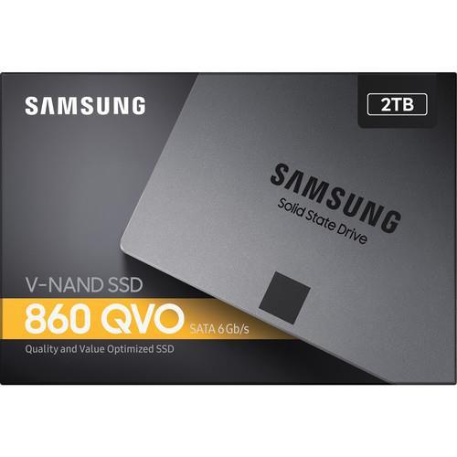 """Samsung 860 QVO MZ-76Q2T0B/AM 2 TB Solid State Drive - 2.5"""" Drive - Internal MZ-76Q2T0B/AM"""