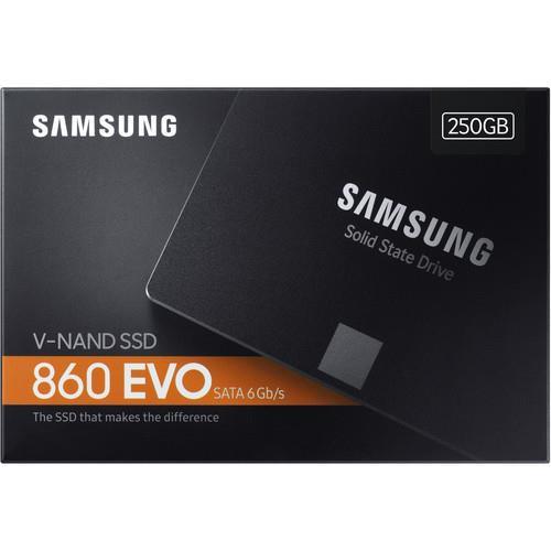 """Samsung 860 EVO MZ-76E250E 250 GB Solid State Drive - SATA - 2.5"""" Drive - Internal"""