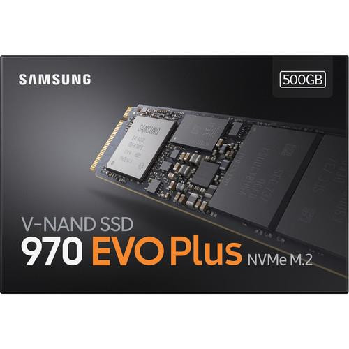 Samsung 970 EVO Plus 500 GB Solid State Drive - PCI Express - Internal - M.2 MZ-V7S500B/AM