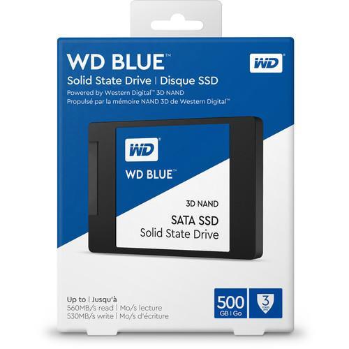 "WD Blue 3D NAND 500GB PC SSD - SATA III 6 Gb/s 2.5"" 7mm Solid State Drive"