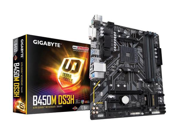 Gigabyte Ultra Durable B450M DS3H Desktop Motherboard - AMD Chipset - Socket AM4