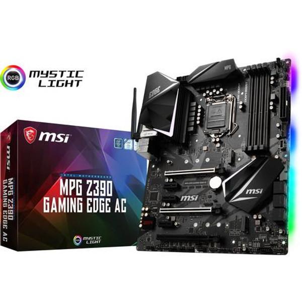 MSI MPG Z390 GAMING EDGE AC Desktop Motherboard - Intel Chipset - Socket H4 LGA-1151