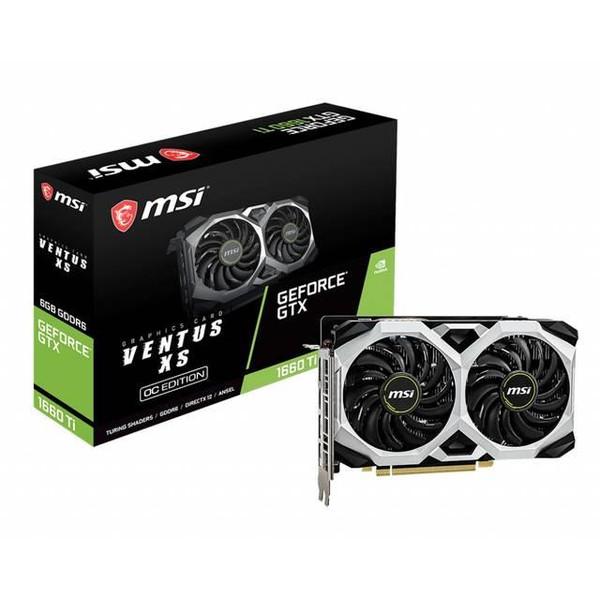 MSI VENTUS GeForce GTX 1660 Ti VENTUS XS 6G OC GeForce GTX 1660 Ti Graphic Card - 1.83 GHz Boost Clock - 6 GB GDDR6