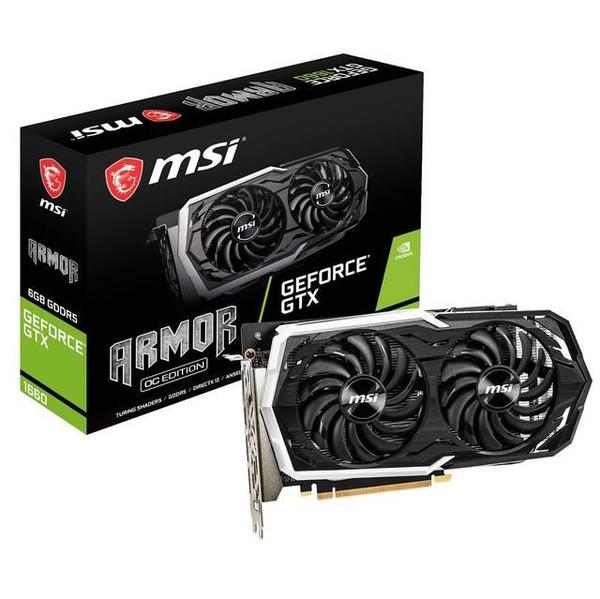 MSI ARMOR GeForce GTX 1660 ARMOR 6G OC GeForce GTX 1660 Graphic Card - 1.85 GHz Boost Clock - 6 GB GDDR5