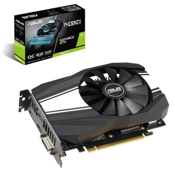 Asus Phoenix GeForce GTX 1660 Ti Graphic Card - 1 GPUs - 1.50 GHz Core - 1.79 GHz Boost Clock