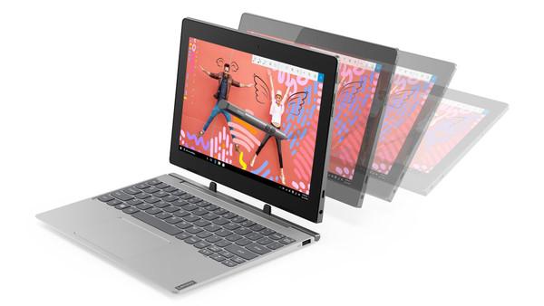 "Lenovo IdeaPad D330-10IGM 81MD001VUS 10.1"" Touchscreen 2 in 1 Laptop (1.10 GHz Intel Celeron N4000, 4 GB DDR4 SDRAM, 64 GB Flash Memory, Windows 10 Pro)"