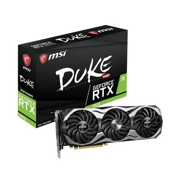 MSI Video Card  G2070D8C RTX 2070 DUKE 8GB OC NVIDIA GeForce RTX 2070 8GB GDDR6 256Bit Display Portx3/HDMI/USB PCI-Express  Retail
