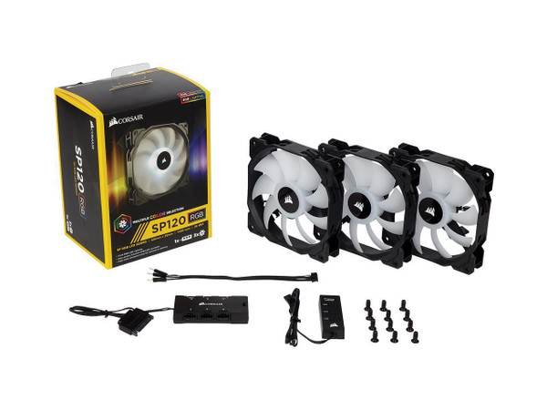 Corsair SP Series, SP120 RGB LED, 120mm High Performance RGB LED Fan (CO-9050061-WW) 3-pack