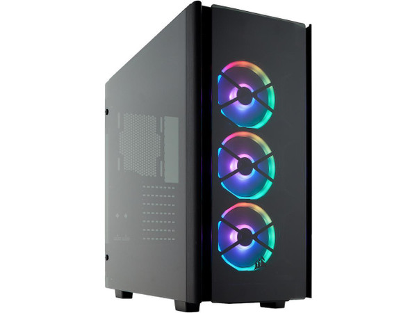 CORSAIR Obsidian Series 500D RGB SE Mid Tower Case, Premium Tempered Glass and Aluminum, LL120 Fans and Commander PRO Included