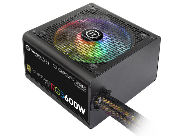 Thermaltake Toughpower GX1 RGB 600W PS-TPD-0600NHFAGA-1 600W ATX 12V v2.4 and EPS v2.92 80 PLUS GOLD Certified Active PFC Power Supply
