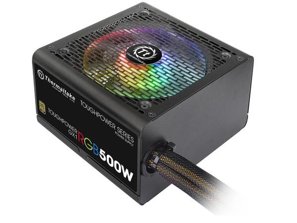 Thermaltake Toughpower GX1 RGB 500W PS-TPD-0500NHFAGA-1 500W ATX 12V v2.4 and EPS v2.92 80 PLUS GOLD Certified Active PFC Power Supply
