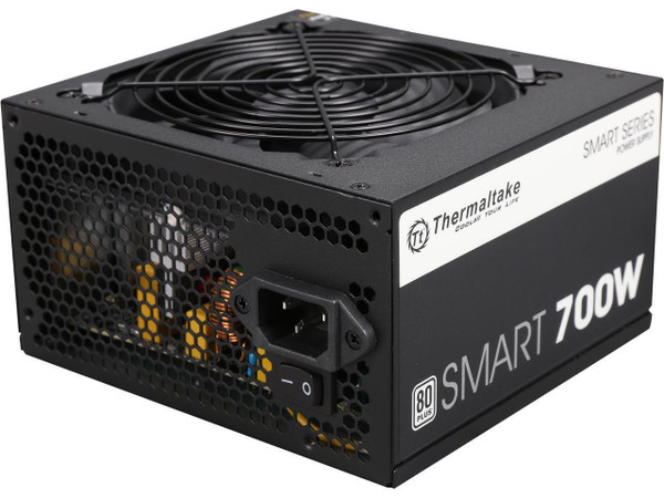 Thermaltake Smart Series 700W SLI / CrossFire Ready Continuous Power ATX12V V2.3 / EPS12V 80 PLUS Certified Active PFC Power Supply Haswell Ready PS-SPD-0700NPCWUS-W