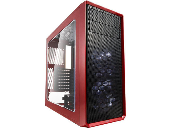 Fractal Design FD-CA-FOCUS-RD-W Focus G Computer Case with Windowed Side Panel