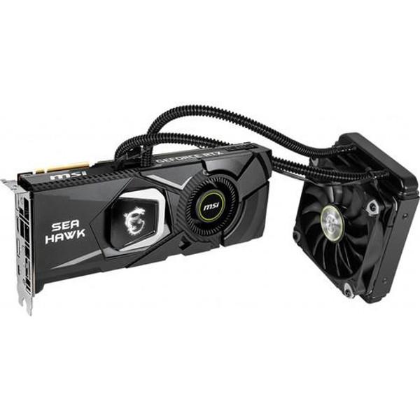 MSI NVIDIA GeForce RTX 2080 TI SEA HAWK G208TSHX X 11GB GDDR6 HDMI/ 3DisplayPort/ USB Type-C PCI-Express Video Card