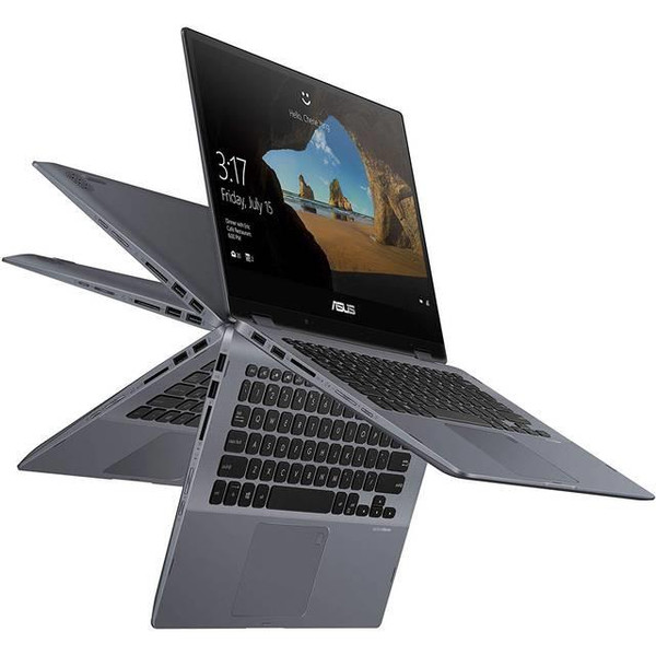"Asus VivoBook Flip 14 TP412FA-DB72T 14"" Touchscreen Laptop (1.80 GHz Intel Core-i7-8565U, 8 GB DDR4 SDRAM, 512 GB SSD, Windows 10 Home)"