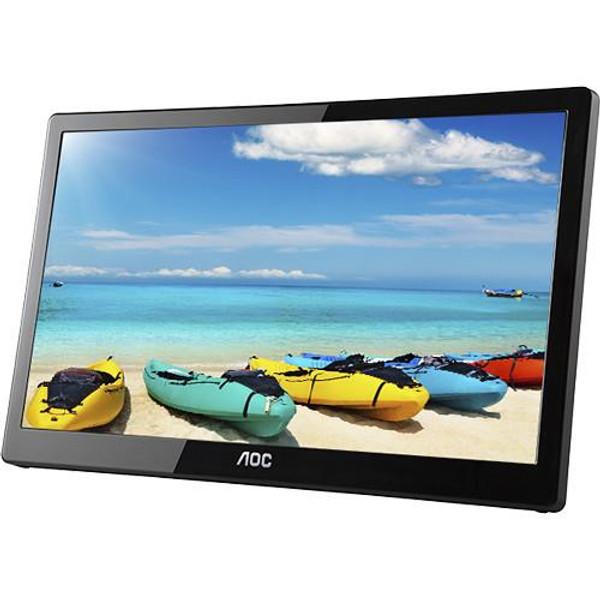 "AOC I1659FWUX 16"" Full HD LED LCD Monitor - 16:9 - Glossy Piano Black"