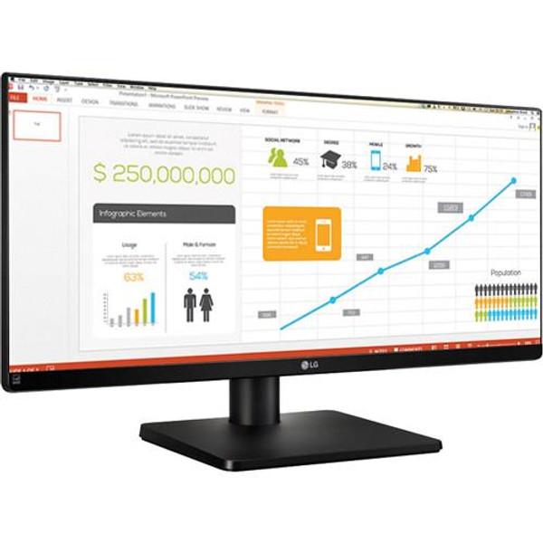 "LG 29UB67-B 29"" UW-UXGA LED LCD Monitor - 21:9 - Matte Black"