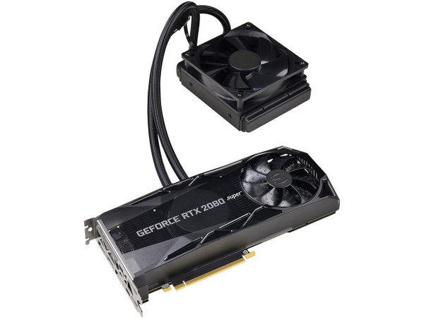 EVGA GeForce RTX 2080 SUPER XC HYBRID GAMING, 08G-P4-3188-KR, 8GB GDDR6, RGB LED Logo Video Card