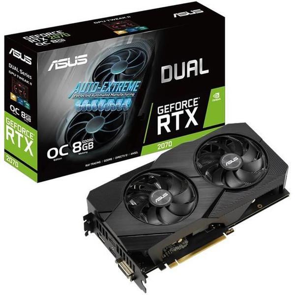 ASUS NVIDIA Dual GeForce RTX 2070 EVO V2 OC Edition 8GB GDDR6 DUAL-RTX2070-O8G-EVO-V2 DVI/2HDMI/DisplayPort PCI-Express Video Card