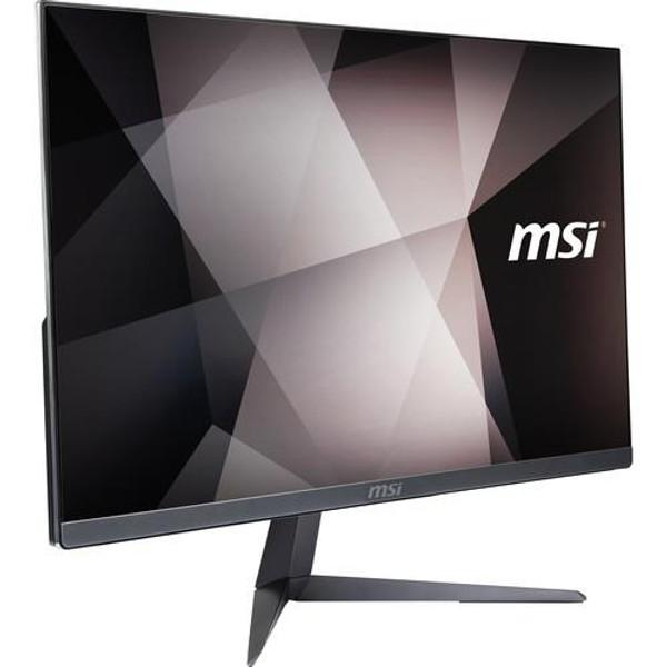"""MSI PRO 24X 10M-061US All-in-One 23.8"""" Desktop (2.10 GHz Intel Core-i3-10110U, 8GB DDR4 SDRAM, 256 GB SSD, Windows 10 Pro)"""