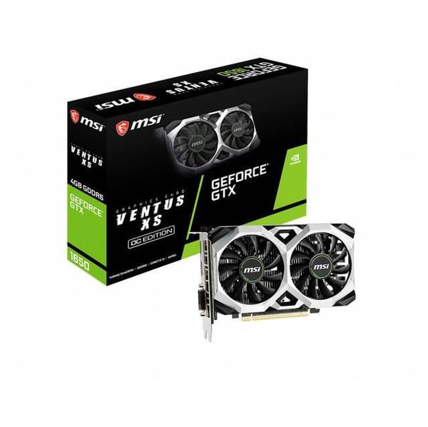 MSI VENTUS GeForce GTX 1650 G165D6VXSC XS 4G OC 1650 Graphic Card - 4 GB GDDR6