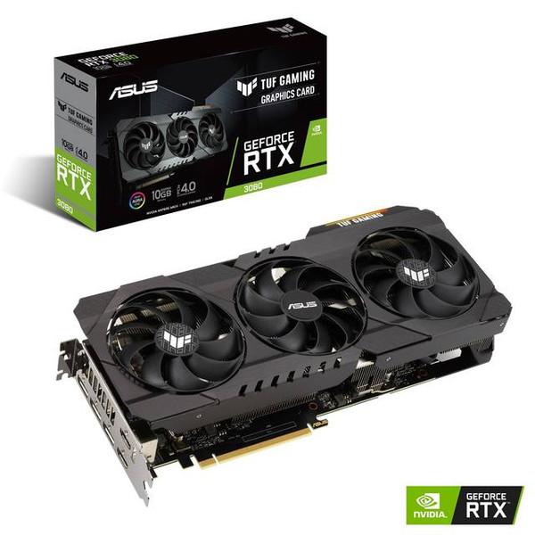ASUS TUF NVIDIA GeForce RTX 3080 10GB GDDR6X 2HDMI/3DisplayPort PCI-Express 4.0 Gaming Video Card