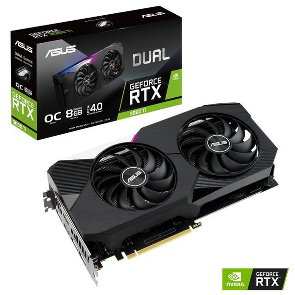 ASUS Dual RTX 3060 Ti OC DUAL-RTX3060TI-O8G Edition 8GB GDDR6 2HDMI/3DisplayPort PCI-Express 4.0 Gaming Video Card