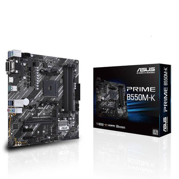 Asus Prime B550M-K Desktop Motherboard - AMD Chipset - Socket AM4