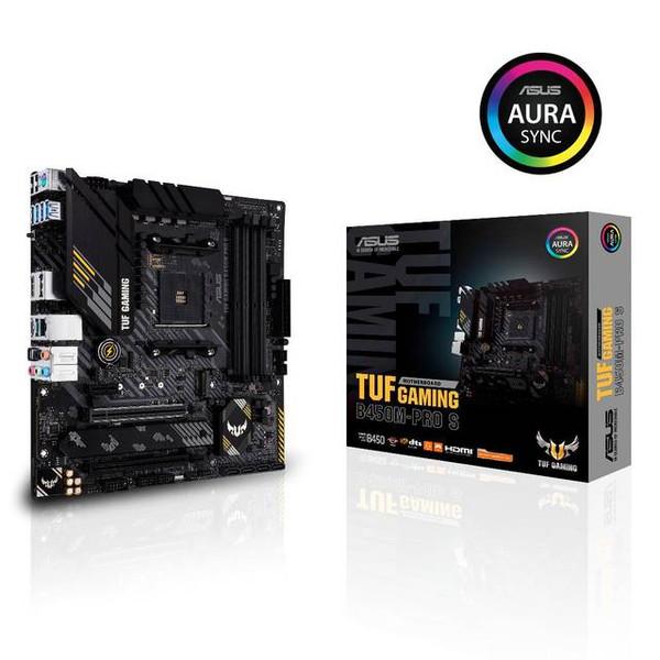 Asus TUF GAMING B450M-PRO S Desktop Motherboard - AMD Chipset - Socket AM4